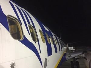 Balletto di voli Ryanair con la bassa visibilita´