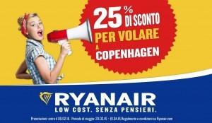 Volate a Copenaghen. Ryanair sconta la rotta del 25%